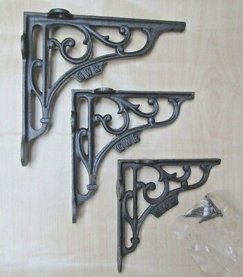 GWR - cast iron vintage rustic cast iron shelf support brackets wall mounted X 1