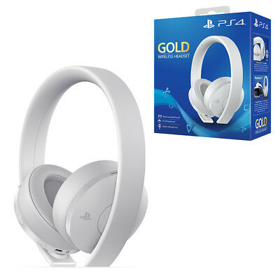 PlayStation 4 PS4 Gold Wireless White Headset NEW