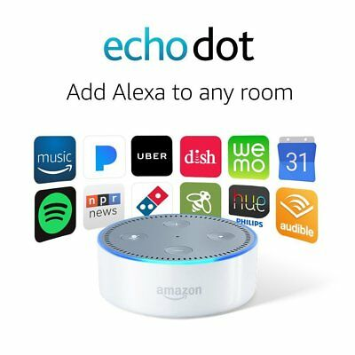 New SEAL - Amazon Echo Dot 2nd Generation with Alexa Smart Home Voice Assistant