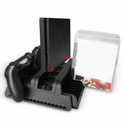 Vertical Cooling Fan Stand Dual Controller Charger For PS4/PS4 Slim/PS4 Pro IJ