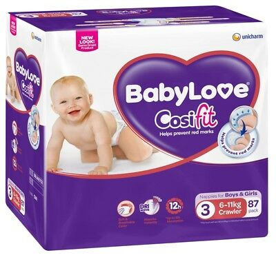 Baby Love Nappies Crawler Jumbo - 87 Pack