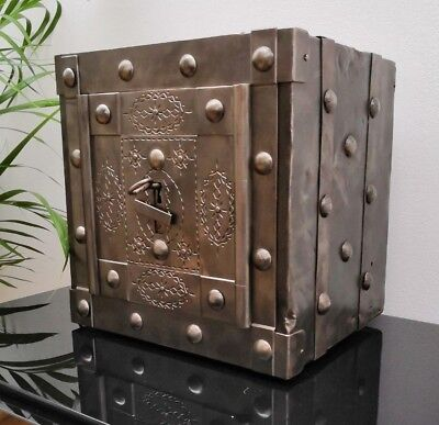 1820/1840 Italian Antique Safe, studded safe, strongbox , iron chest