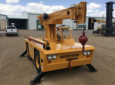 Broderson IC 701A Carry Deck Crane 6 Tons Diesel, 10' jib