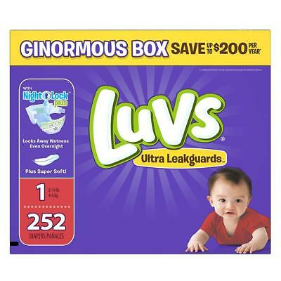 Luvs Ultra Leakguards Disposable Baby Diapers Newborn Size1  252 Count ONE Month