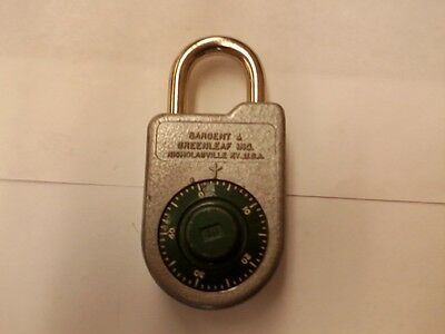 Sargent and Greenleaf combination padlock 8088
