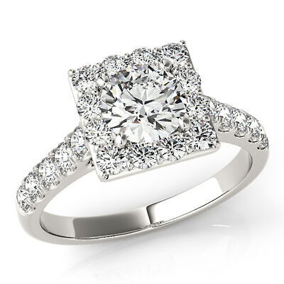 1.45 Ctw Round Ring H Si2 White Gold 14k Lab Grown Igi Certified Made To Order Jewelry & Watches Diamond