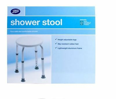 Boots Pharmaceuticals Bath & Shower Stool Seat Adjustable Height Chair Bathing