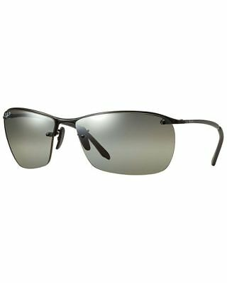 7ae6e2d11e Ray Ban RB3544 002 5J Black Frame Silver Mirror Polarized 64mm Lens  Sunglasses