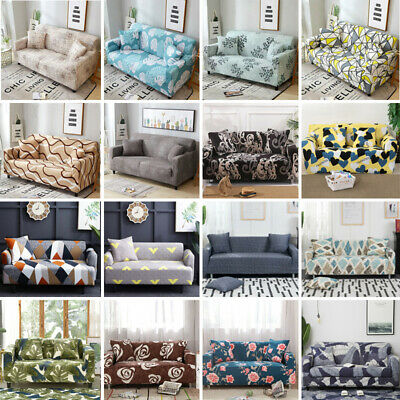 1-4 Seaters Sofa Cover Removable Stretch Fabric Sectional Corner Slipcover Decor