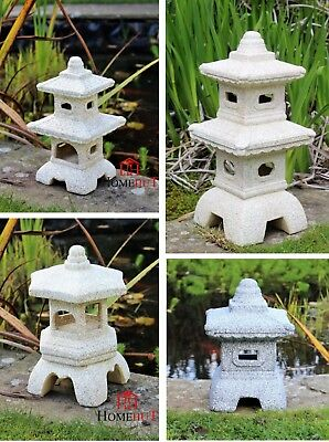 Garden Pagoda Chinese Japanese Ornament Sculpture Lantern decor Lawn