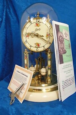 Schatz 2 Jewel Second Main Spring 400 Day German  Anniversary Clock  Vintage