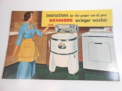 Vintage Kenmore Wringer Washer Instruction booklet