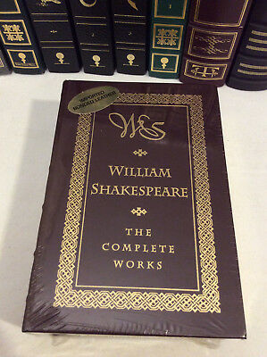 The Complete Works of William Shakespeare - leather-bound - ships in a box
