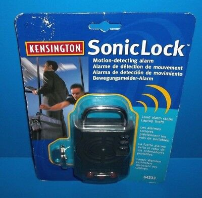 Kensington Sonic Lock SonicLock 64233 Motion Detecting Alarm for Laptops New