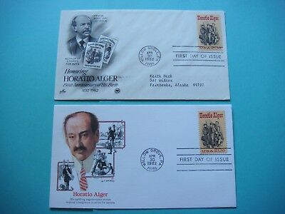 Lot of 2  FDC - 4-30-1982 - Horatio Alger- First day of issue. lot#433