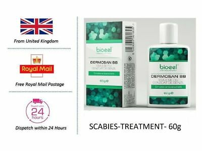 SCABIES TREATMENT  Mites parasite cream lotion  60g, UK Stock free shipping