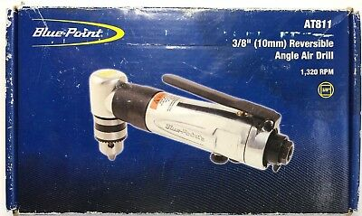 Snap On Blue Point 3/8 10mm Reversible Angle Air Drill 1320 RPM  AT811 .45 HP