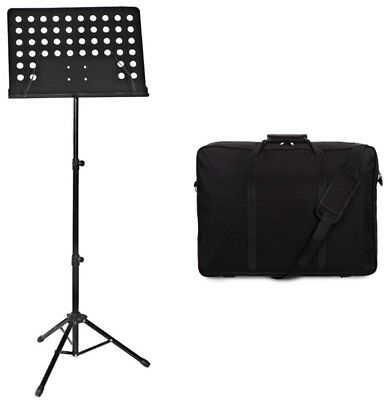 Heavy Duty Adjustable Music Sheet Stand With High Quality Carry Storage Bag Case