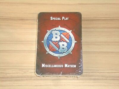 Warhammer Blood Bowl Cards Deck 2016 Misc Mayhem New & Sealed