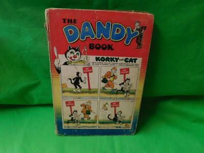 The Dandy Book 1955 Vintage Annual Korky the cat