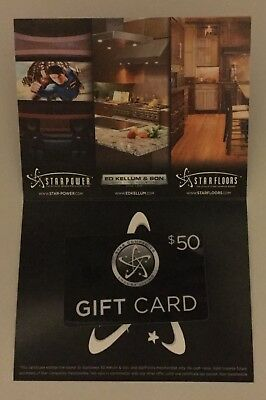 Star Companies $50 Gift Card SOLD AT DISCOUNT for $25 Expires 12/31/18