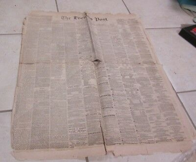 January 28 1861 New York Evening Post Fort Sumter Question of Southern Secession