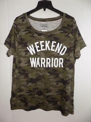 de5d4b10300 WTC8180 Freeze 24-7 Women s Plus Weekend Warrior Camouflage T-Shirt NWT  Size 1X