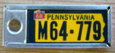1968 missouri license plates with key tags