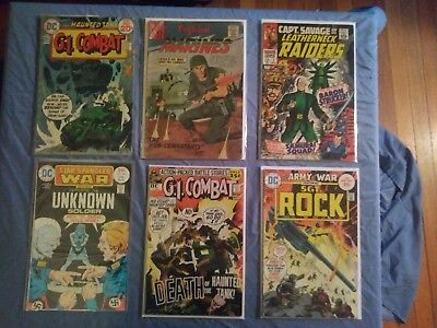 Lot of Vintage WAR COMICS Our Army At War Sgt Rock DC Marvel  Unknown Soldier