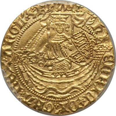 Great Britain Henry VI (1422-1430) gold Half Noble PCGS AU-55
