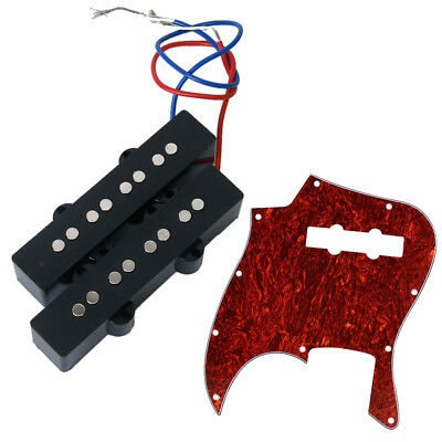 4-String Open Humbucker Pickup with Guitar Pickguard for Jazz Bass Guitar