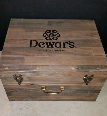 Dewar's Whiskey Wood Trunk and Copper Aroma Diffuser Vaporizer Electrical NEW