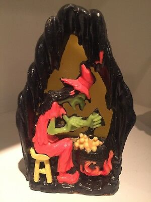 Vintage GURLEY HALLOWEEN GLOW CANDLE - WITCHES BREW - Witch Cauldron