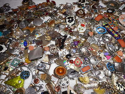 HUGE 1/2 POUND Lot Junk Drawer Misc Metal Charms Pendants Connectors Jewelry FUN