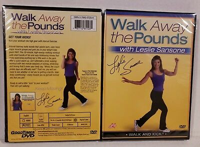 NEW WALK & KICK Leslie Sansone Walk Away Pounds Workout + FREE Fitness Bonuses!