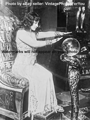 Vintage/Antique/Old 1910-15 Spooky/Weird/Strange Crystal Ball Gazing Woman Photo