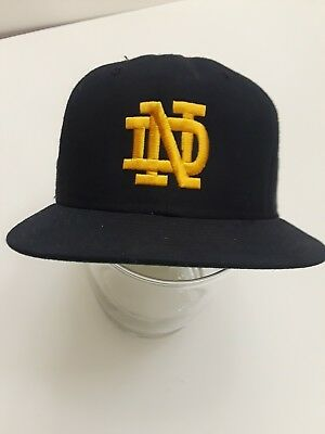 Vintage Notre Dame Fighting Irish Baseball Hat New Era Wool Dupont Snapback USA