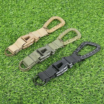 New Hot Salling Military Army Webbing Belt MOLLE Keychain Buckle Key Ring