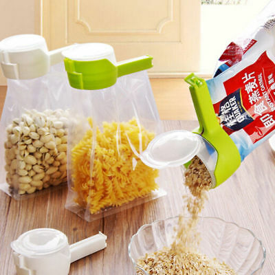 Bag Clip Pour Food Sealing Storage Seal Sealer Freezer Fridge Clamp Cover Fresh