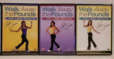 3 NEW Leslie Sansone Walk Away Pounds DVD Workouts +FREE Health Fitness Bonuses!