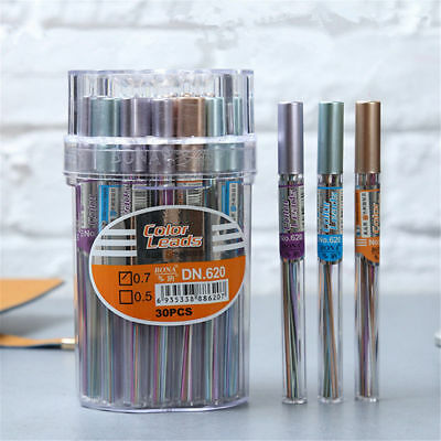 New Color Lead Refills Tube 0.7mm Mechanical Pencil For Office Study Drawing