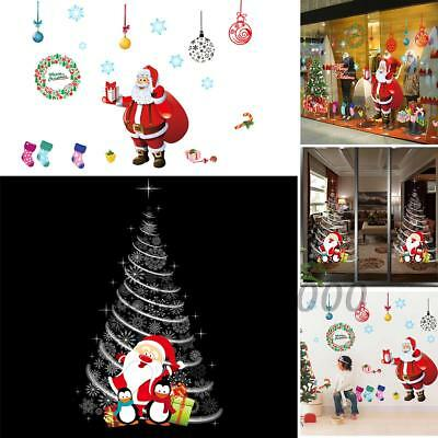 NEW 2Model Christmas Xmas Home Window Glass Wall Sticker Decals For Room Decor