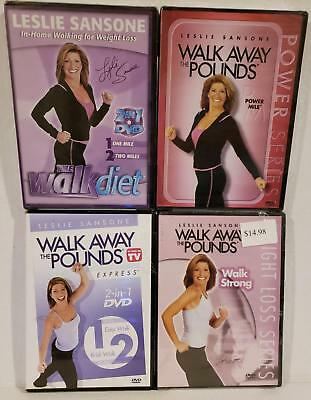 NEW 6-ON-4 Leslie Sansone Walk Away Pounds DVD Workouts + FREE Fitness Bonuses!