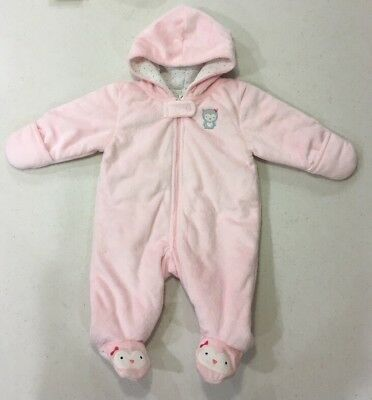 7cfa5a7a48b1 GIRLS SNOWSUIT SIZE 0 3 Months Pink Girls One Piece baby bunting ...