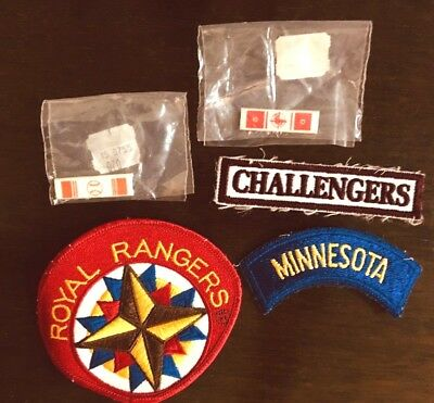 "ROYAL RANGERS Patch 4"" Lot of 5 Minnesota Challengers"