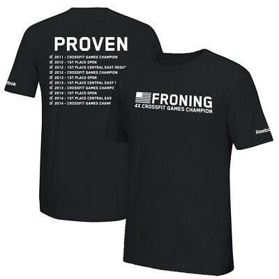Reebok Men's  Rich Froning Jr. 4x CrossFit Games Champion Black T-Shirt
