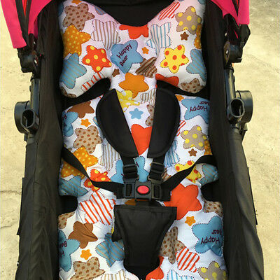 Baby Stroller Pram Safe Car Seat Cushion Pad Liner Head Body Support Pillow Mat
