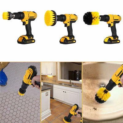 3 Pcs / Set Tile Grout Power Scrubber Rotating Cleaning Drill Brush Tub Cleaner