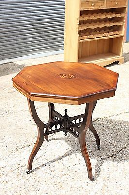 A Victorian Octagonal Rosewood Side Table