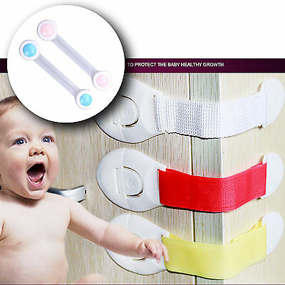Toddler Baby Kids Child Safety Lock Proof Cabinet Drawer Fridge Cupboard Door UK